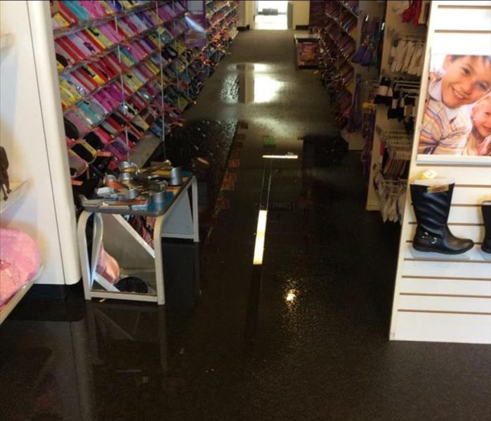 Commercial Retail Water Damage Clean up in Spokane Before